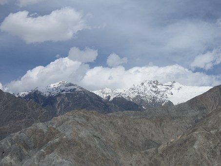Mountains, Nature, Hills, Landscape, Peak, Snowclad
