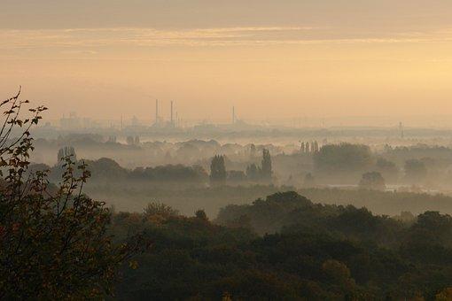Morning Mist, Autumn, October, Industry, Chimneys, Smog