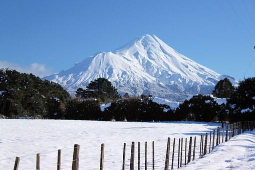 Mount Taranaki, Mountain, Snow Mountain, Snow, Winter