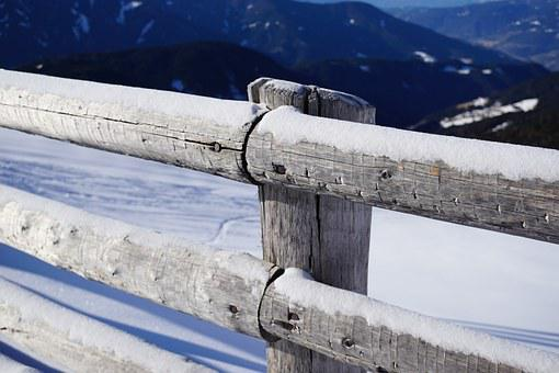Fence, Snow, Snowy, Winter, Cold, Icy, Barrier, Blocked