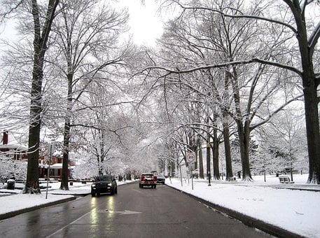 Street, Winter, Huntington, Snow, Travel, Town, Cold