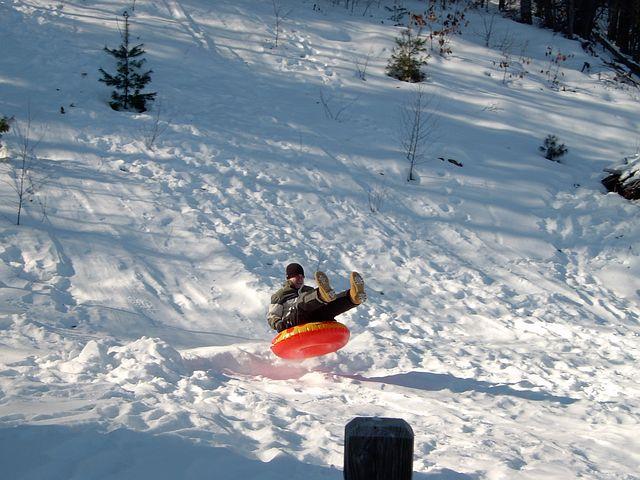 Snow Tubing, Sled, Sledding, Snow, Winter, Tubing