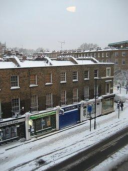 London, Street, Snow, Winter, Cold, Snowy