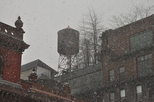 Water Tower, Snow, Snowy, Cold, Weather, Winter, Frost