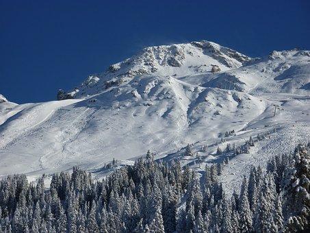 Mountains, Black Horn, Switzerland, Winter, Wintry