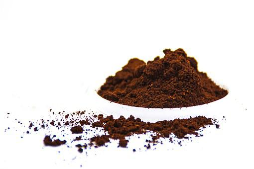 Coffee, Powder, White Background, White, Food, Brown