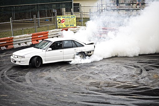 Drag, Smoke, Burn Out, Rallying, Car, Driver, Race Car