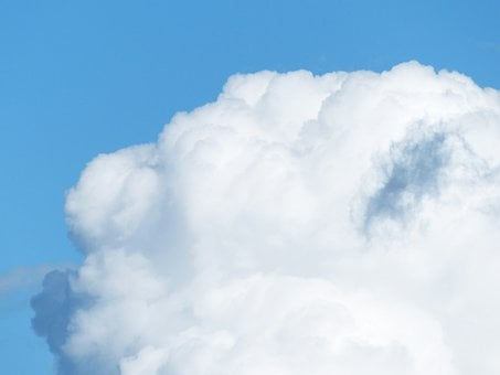 Sky, Clouds, Cloud Towers, Fleecy, Background