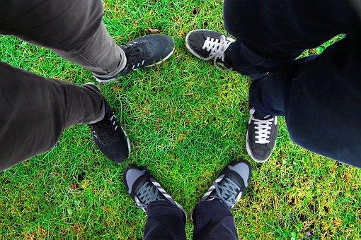 Grass, Pool, Friends, Friendship, Memorial, Pete, Shoe