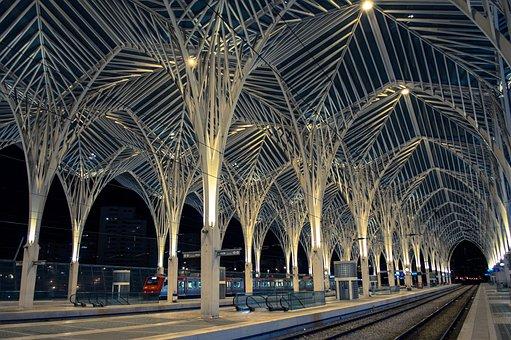 Platform, Gare Do Oriente, East, Lisbon, Vasco Da Gama