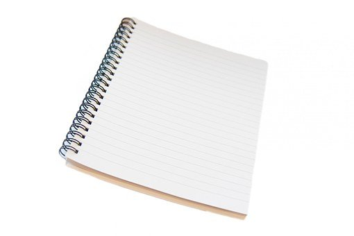 Notepad, Notebook, Spiral, Lined, Ruled, Isolated