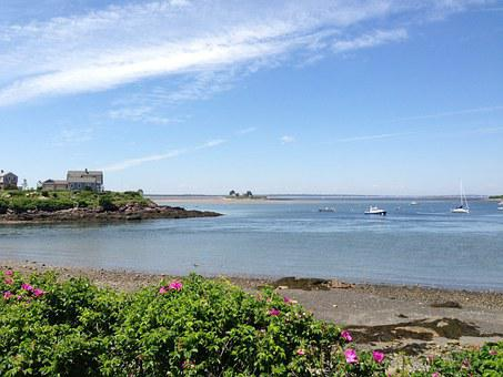 Water, Sky, Beach, Maine, Nature, Ocean, Sea, Summer