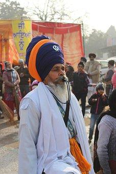 Sikh, Whistle, Turban, Old, Sikhism, Patiala, Man