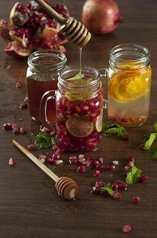 Infused Water, Water, Juice, Pomegranate, Orange