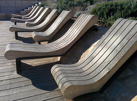 Seat, Chair, Wood, Sun, Sun Lounger, Patina, Terrace