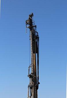 Site, Construction Machine, Rammmaschine, Ram, Drag