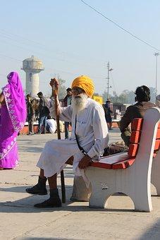 Old Man, Sikh, Religion, Railway Station, Patiala