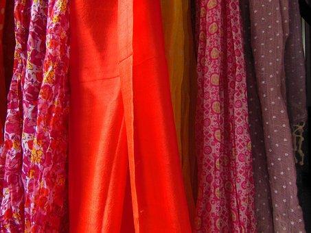 Scarves, Polkadot, Floral, Patterned, Single Coloured