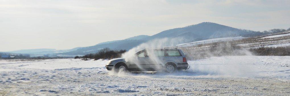 Snowy Landscape, Car, Speed, Sports, Fast, Vehicle