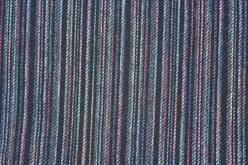 Stripe, Background, Blue, White, Black, Textile