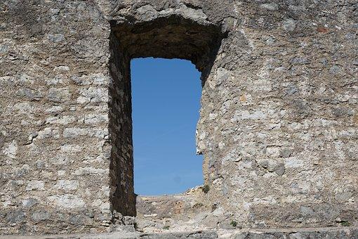 Window, Ruin, Wall, Sky, Castle, Honing Mountain