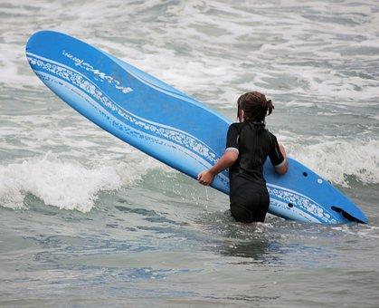 Surfing, Surf Board, Ocean, Pacific, Beach, San Diego
