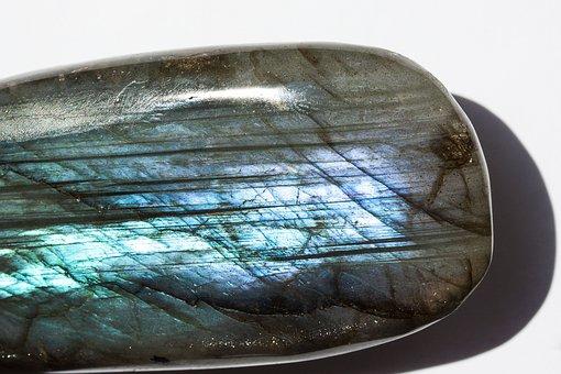 Gem, Labradorite, Ground, Polished, Bluish, Blue