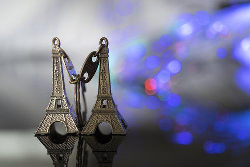 Couple, Bokeh, Blur, Tower, Eiffel, Paris, France