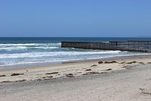 Beach, Tijuana, Border, Border Line, Tijuana San Diego