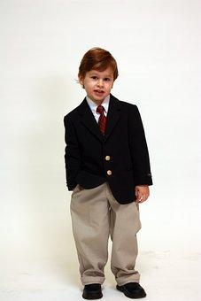 Boy, Portrait, Suit, Formal, Handsome, Jacket, Tie