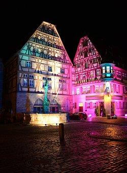 Rothenburg Ob Der Tauber, Germany, Buildings, Town