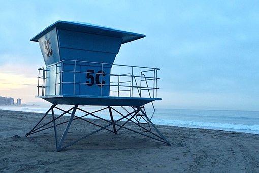 Beach, Ocean, Surf, California, San Diego