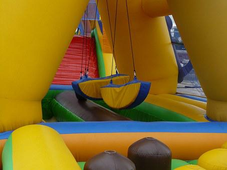 Bouncy Castle, Game Device, Children, Playground
