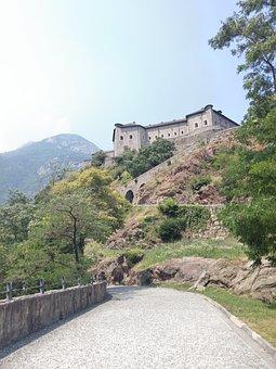Castle, Bard, Italia, Europe