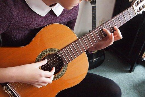 Hands, Fingers, Guitar, Musical Instrument, Spanish