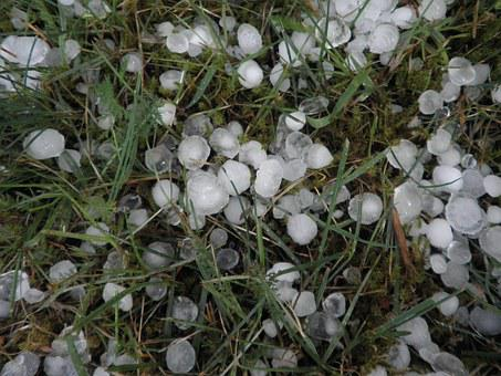 Hail, Hailstones, Weather, Storm, Precipitate, Grass
