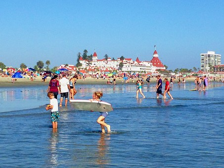 Hotel Del Coronado, San Diego, Beach, Hotel, Sand