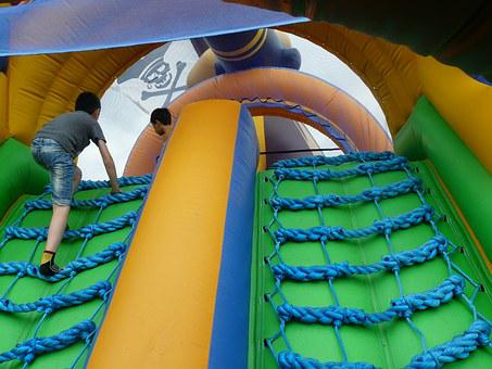 Pirate Ship, Bouncy Castle, Inflatable, Colorful