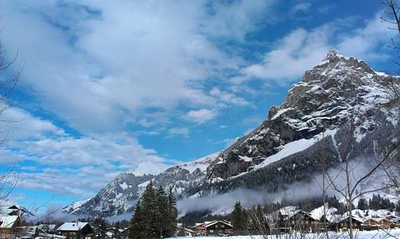 Alpine, Kandersteg, Switzerland, Mountain, Snow, Winter