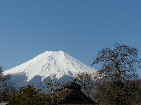 Fuji Mountain, Japan, Landscape, Asia, Travel, Blue