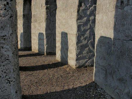 Maryhill, Stonehenge Replica, Shadows, Abstract