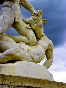 Minotaur, French Gardens, Myths, Mythology
