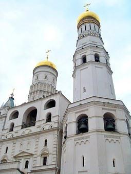 Russia, Moscow, Cathedral, St Saviour, Tower, Bulbs