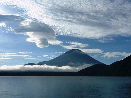 Mt Fuji, Lake Motosu, Fuji Five Lakes Of Mikata, Lake