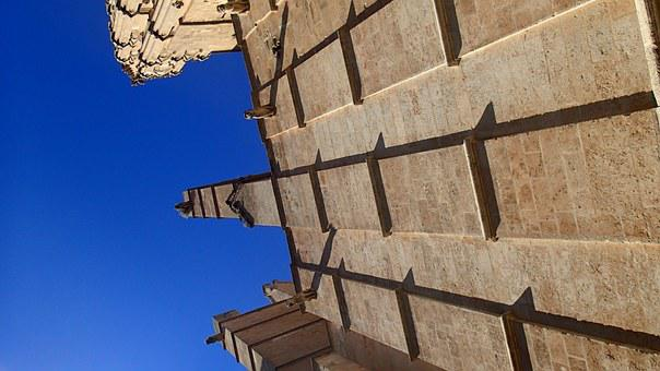 Wall, Perspective, Architecture, Palma Cathedral