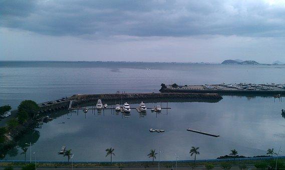 Panama, City, Bay, Ocean, Sea, Seascape, Water, Coast
