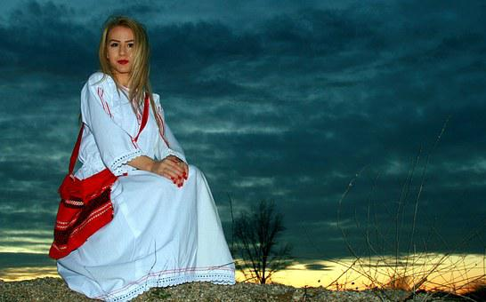 Girl, Traditional Costume, Romania, Beauty