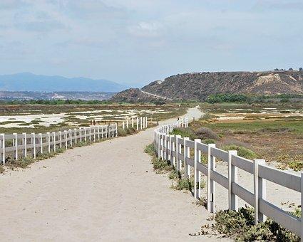 Beach, Path, San Diego, Coast, Sand, Ocean, Summer