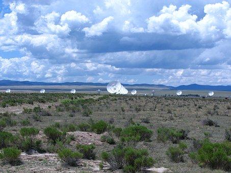 Antenna, Very Large Array, Seti, Astronomy, Desert