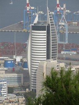 Skyscraper, High-rise Building, City, Haifa, Israel